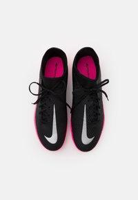 Nike Performance - PHANTOM GT ACADEMY DYNAMIC FIT MG - Moulded stud football boots - black/metallic silver/pink blast - 3