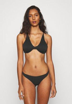 HALF WIRE BRA TOP HIGH SIDE THONG  - Bikini - black