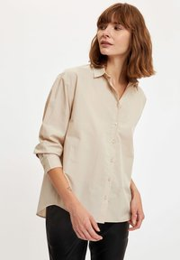 DeFacto - Button-down blouse - beige - 0