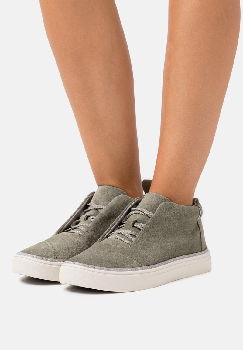 TOMS - RILEY - High-top trainers - olive