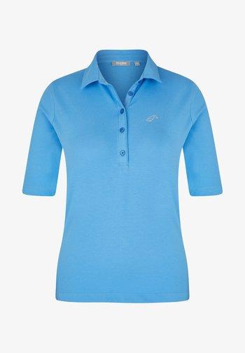 MIT UNIFARBENEM STOFF UND GLITZERSTEINEN - Polo shirt - hellblau