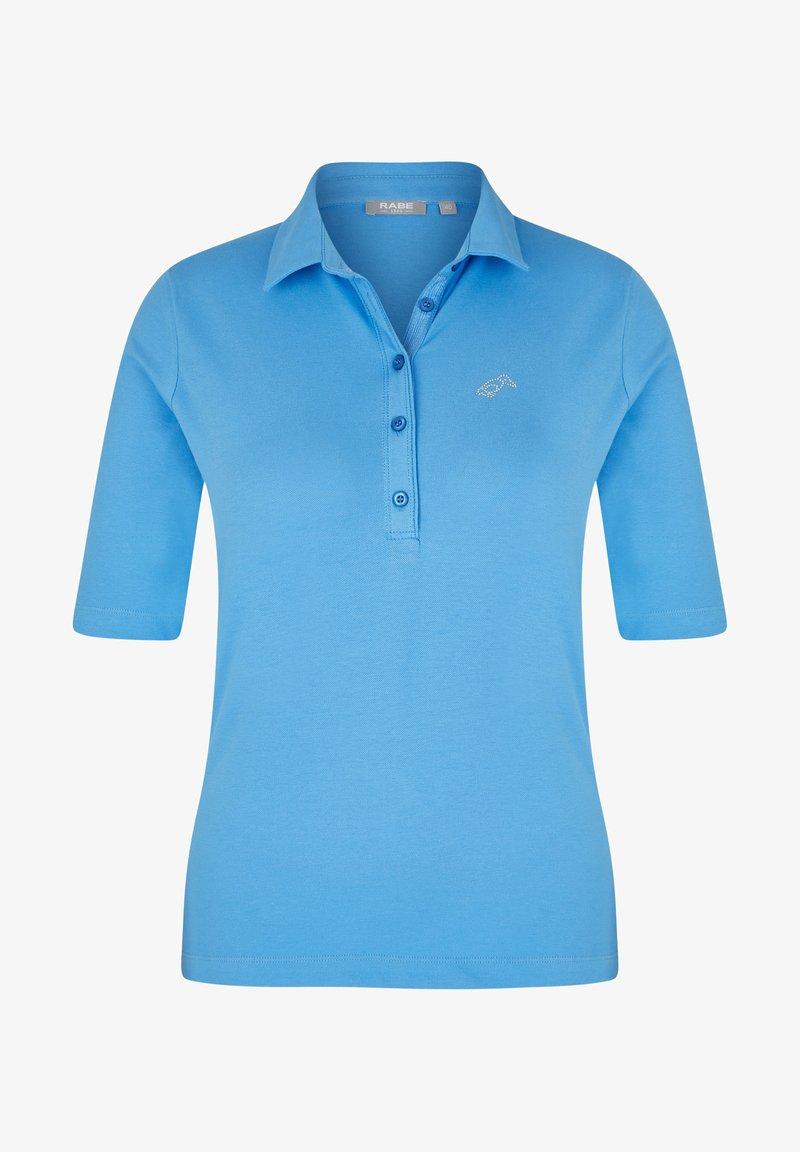 Rabe 1920 - MIT UNIFARBENEM STOFF UND GLITZERSTEINEN - Polo shirt - hellblau