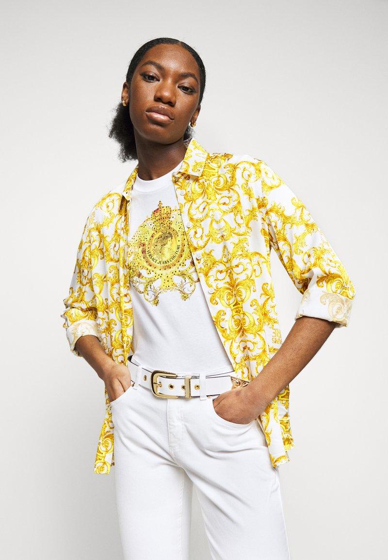 Versace Jeans Couture - PIN BUCKLE - Pásek - bianco ottico