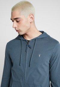 AllSaints - BRACE HOODY - Zip-up hoodie - pier blue - 3