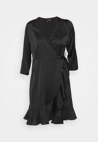 Vero Moda - VMHENNA WRAP DRESS - Cocktail dress / Party dress - black - 4