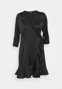 Vero Moda - VMHENNA WRAP DRESS - Cocktail dress / Party dress - black - 4