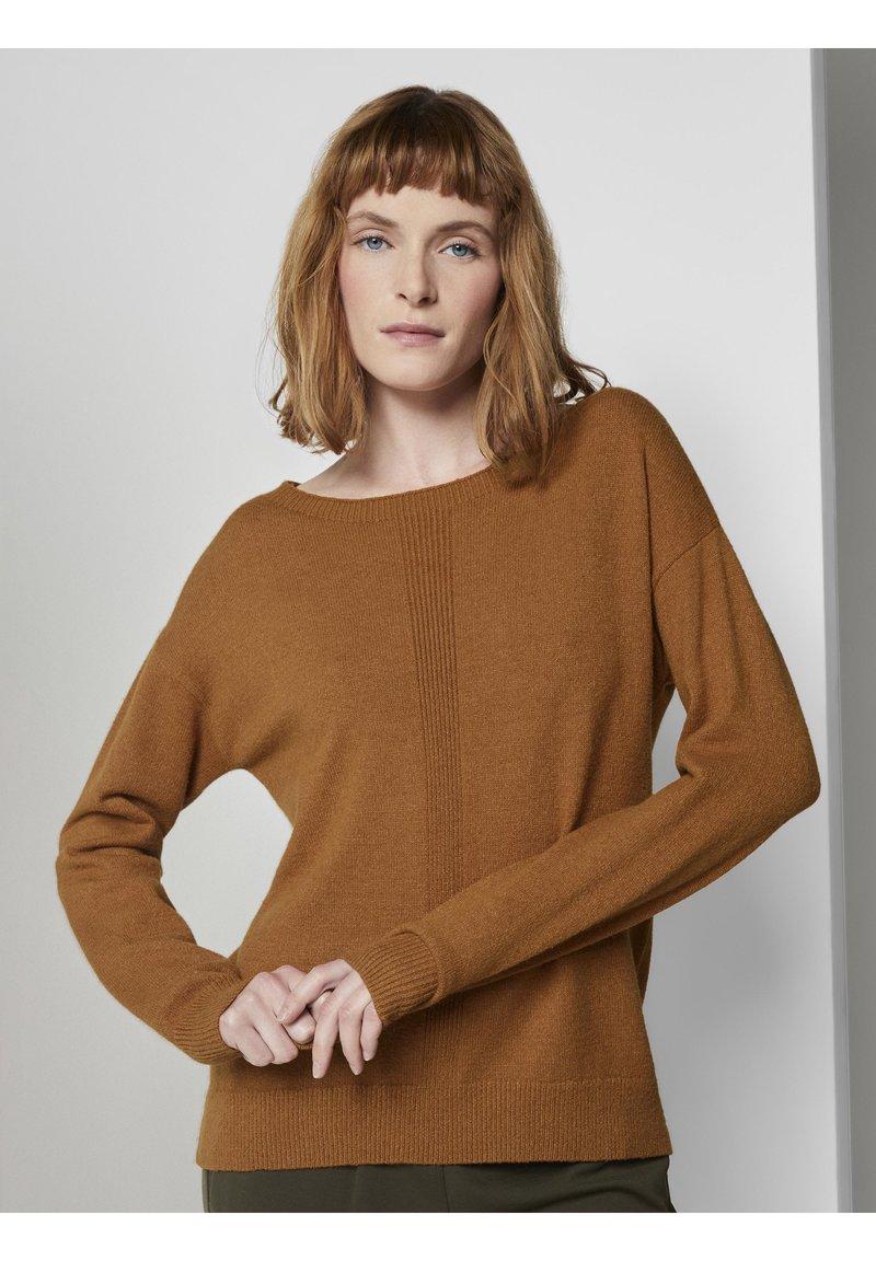 TOM TAILOR - Jumper - tawny brown melange