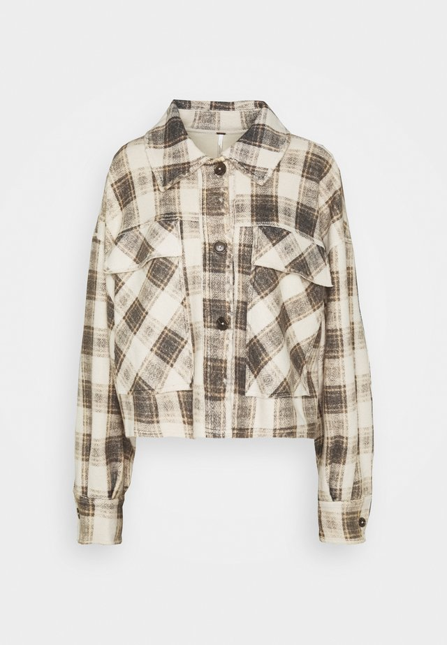 JAMES PLAID JACKET - Jas - cream combo