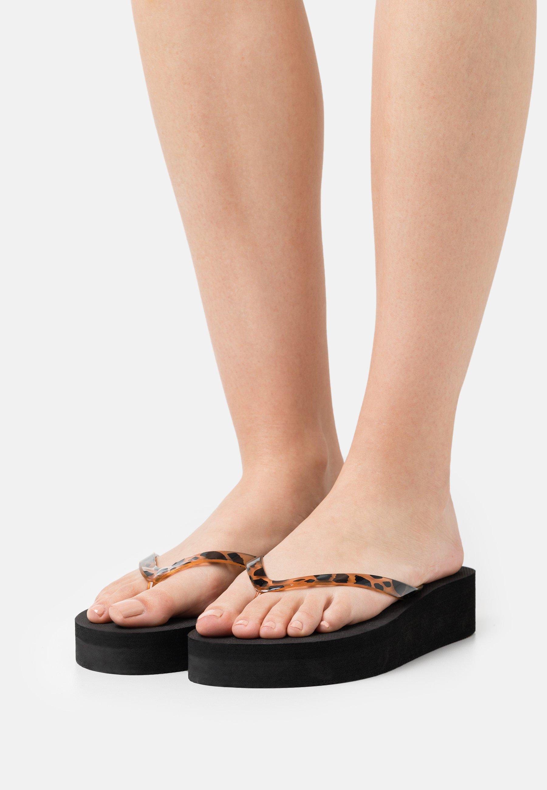 Women T-bar sandals - black