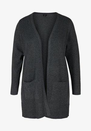 MELIERTER  MIT TASCHEN - Cardigan - dark grey melange