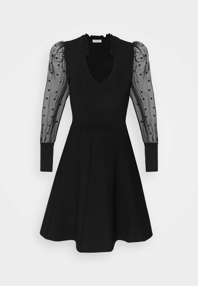 ELYNA - Day dress - noir