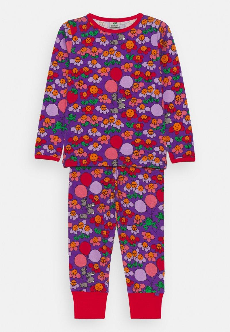 Småfolk - NATTØJ MED BLOMSTER - Pyjama - purple heart