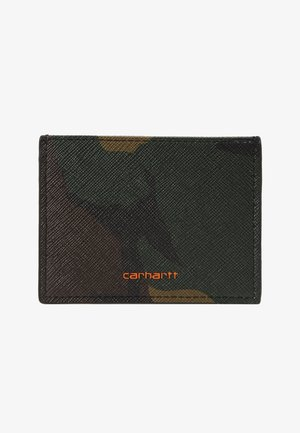 COATED CARD HOLDER - Lommebok - olive
