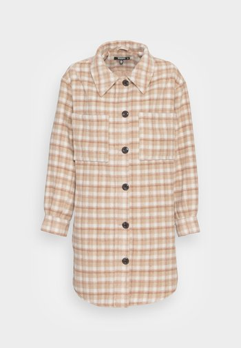 LONGERLINE MID LENGTH SHACKET - Classic coat - beige