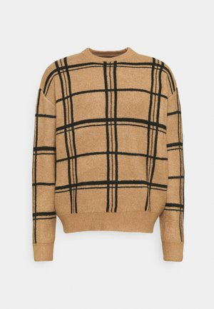 HENNESSEY GRID CHECK - Maglione - light brown