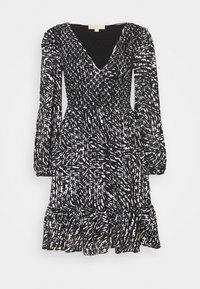 ZEBRA SMOCK DRESS - Cocktail dress / Party dress - white/black