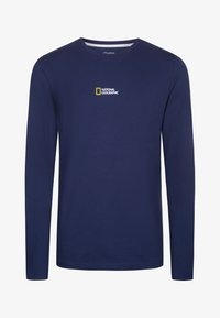 National Geographic - MIT PRINT - Long sleeved top - navy - 4