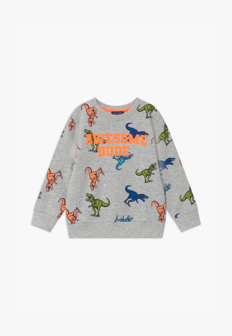 Blue Seven - SMALL BOYS T-REX DINOSAUR - Sweatshirt - nebel