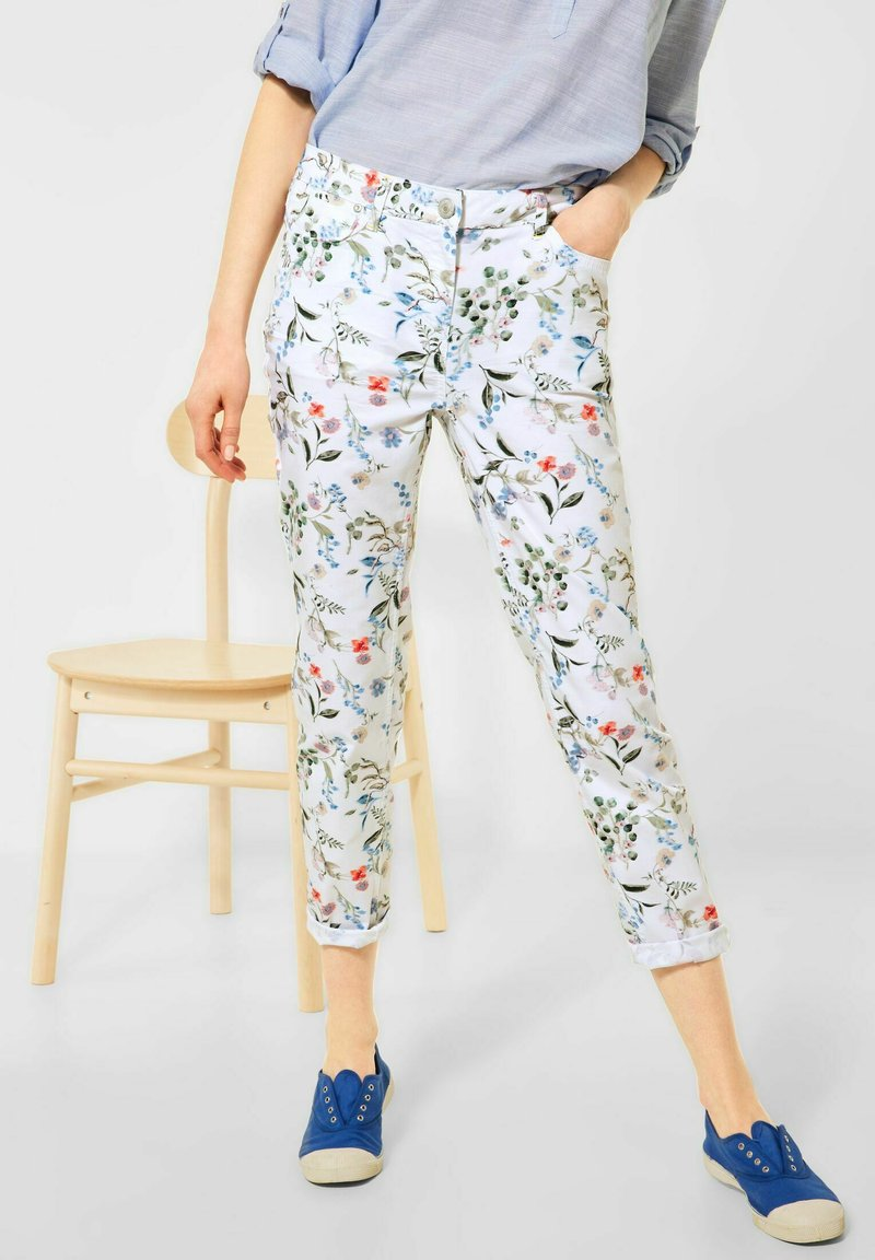 Cecil - Trousers - weiß
