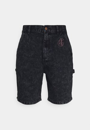 LIVEUTION UNISEX  - Denim shorts - black