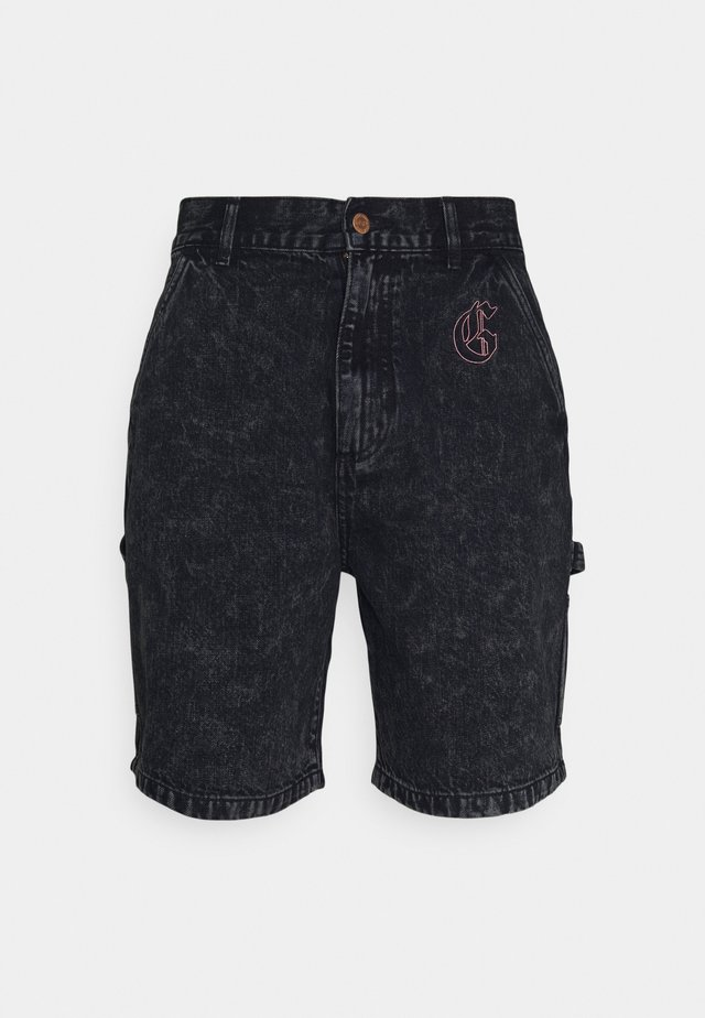 LIVEUTION UNISEX  - Shorts di jeans - black