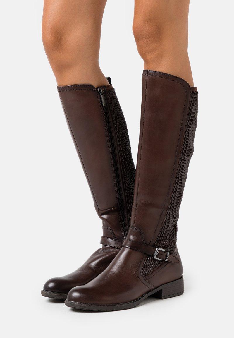 Tamaris - Vysoká obuv - mocca