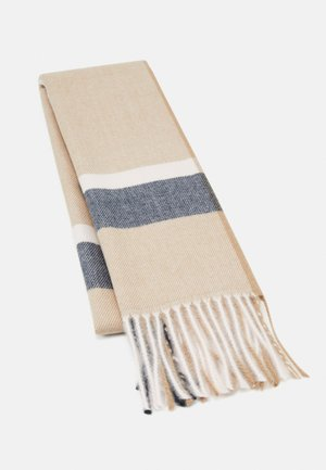 Scarf - camel/dark blue