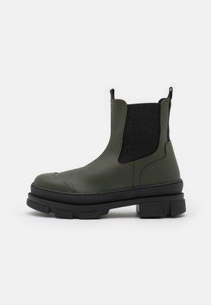 WAVE - Platform ankle boots - green