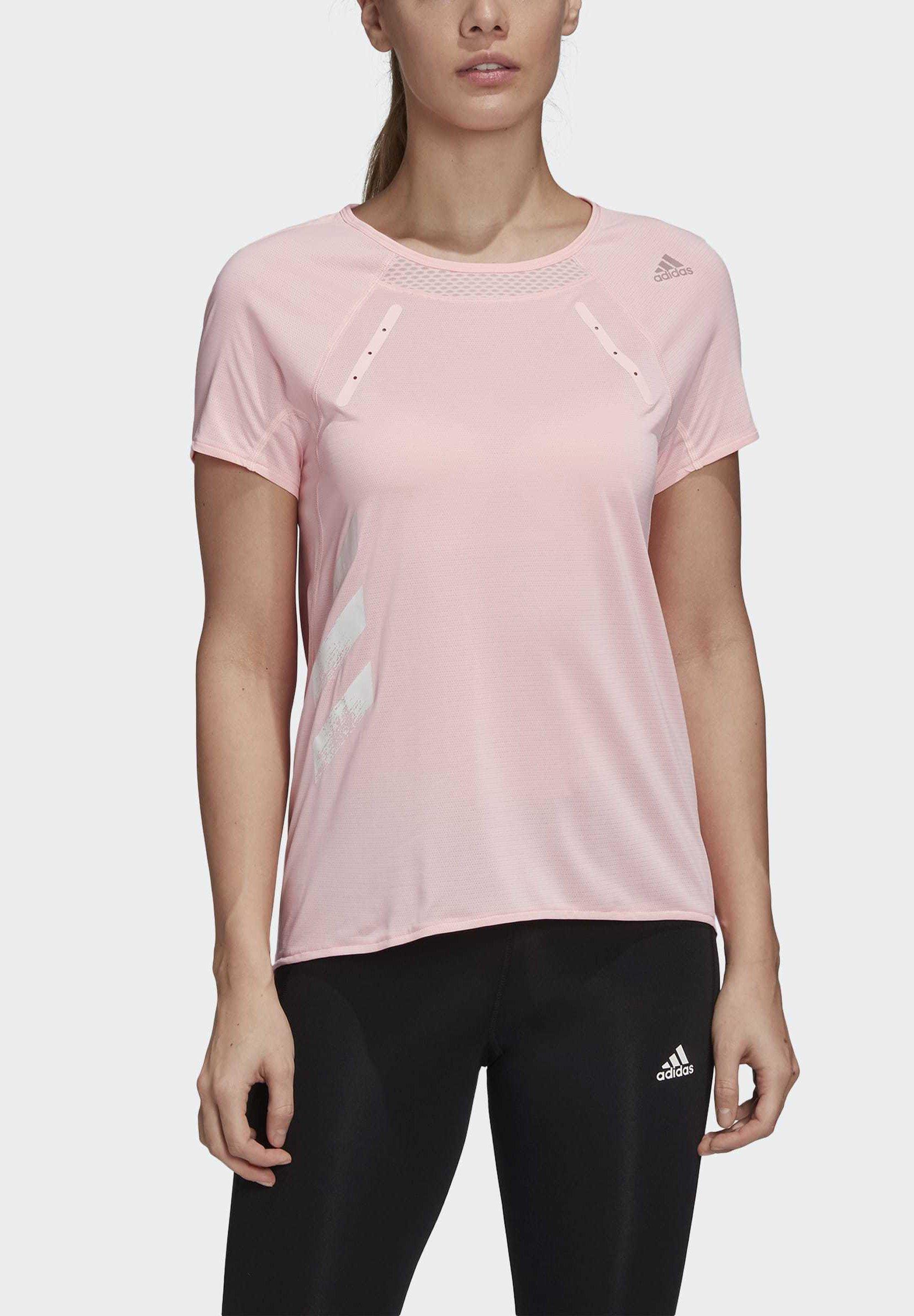adidas Performance HEAT.RDY - Print T-shirt - pink zXJR6