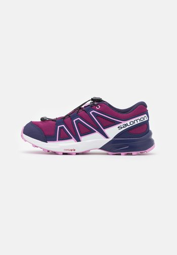 SPEEDCROSS J - Hiking shoes - plum caspia/evening blue/orchid