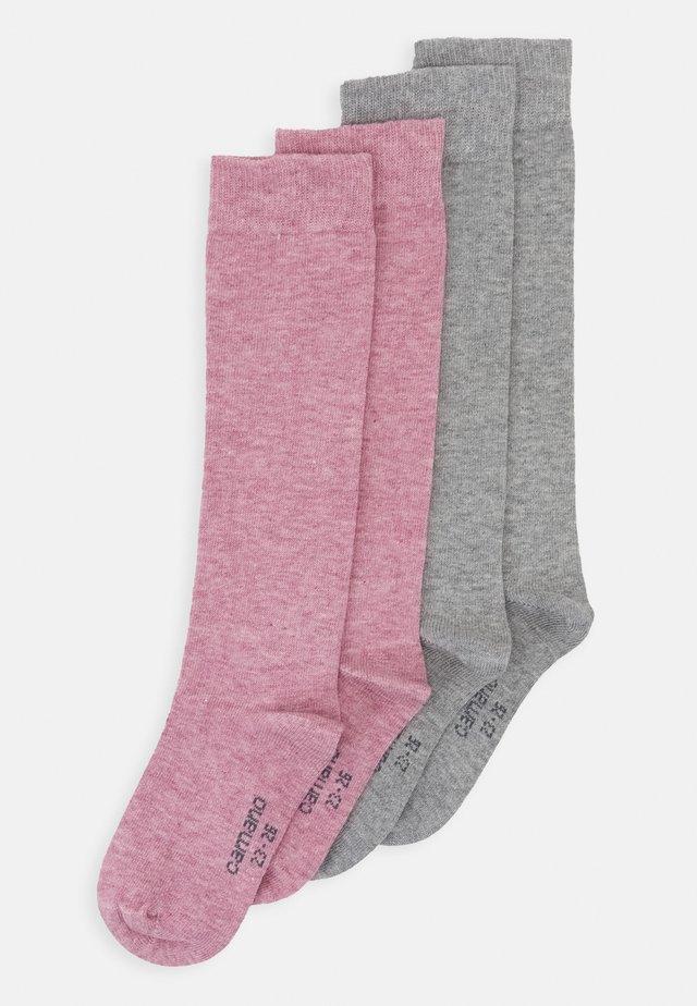 CHILDREN BASIC SOFT KNEEHIGHS 2 PACK - Knee high socks - chalk pink melange