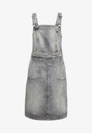 EYEVI FIT & FLARE - Denim dress - grey