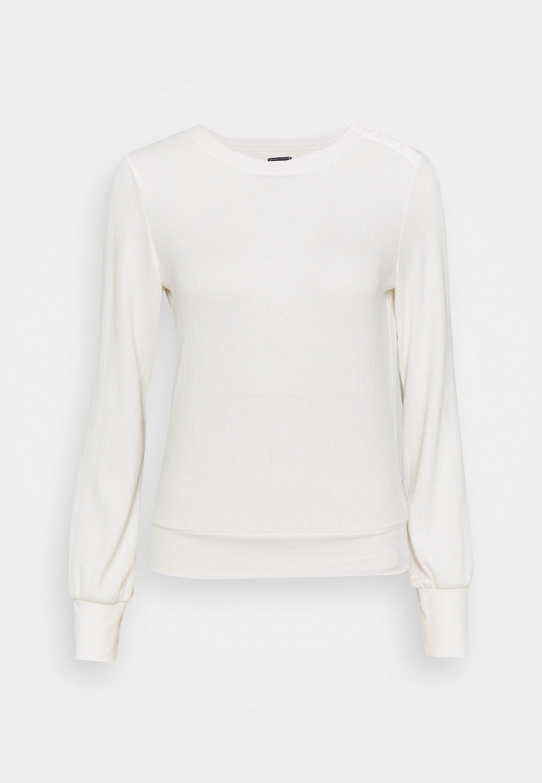 Women POINTELLE  - Long sleeved top - milk