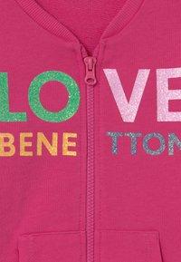 Benetton - veste en sweat zippée - pink - 2