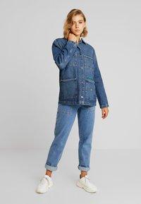 Tommy Jeans - WORKWEAR JACKET - Denim jacket - save mid blue - 1