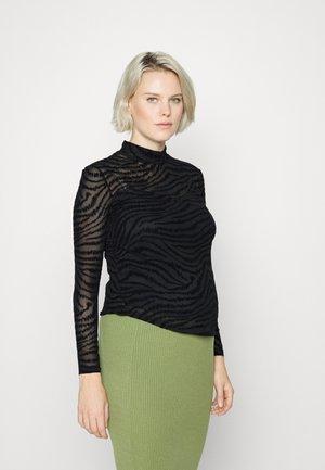 OLMLINNA HIGHNECK BOX - Bluzka z długim rękawem - black