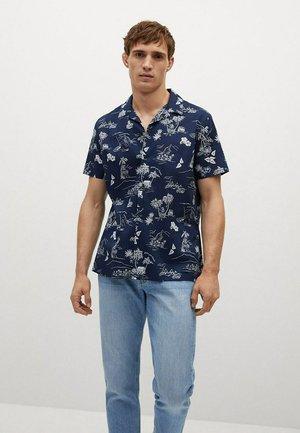 MIT TROPENMUSTER - Shirt - dunkles marineblau