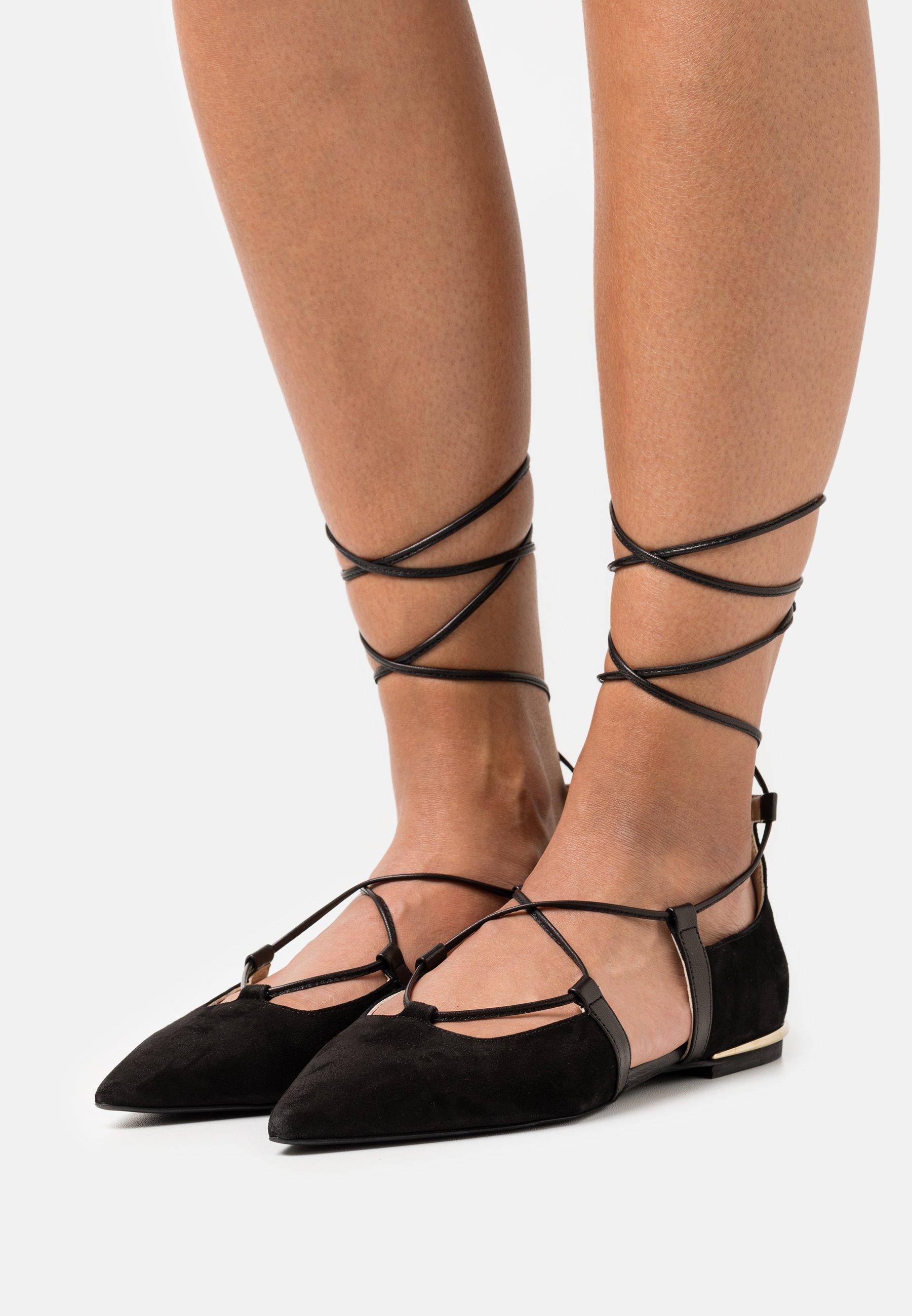 Women CODE LACES  - Ankle strap ballet pumps