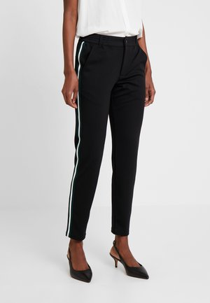 ATHLETIC TRACK PANTS - Trousers - deep black