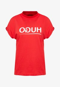 HUGO - DENNALINA - Print T-shirt - red/white - 4