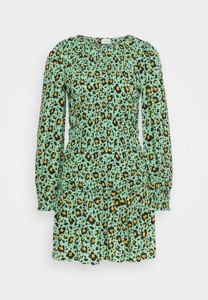 JDYDREW LIFE SHORT DRESS - Vestido informal - absinthe green/brown/black