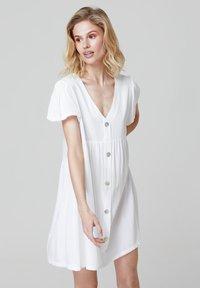 FELIPE ALBERNAZ - MIA FLARED - Shirt dress - white - 2