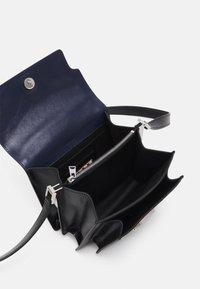 Marni - TRUNK SOFT MINI UNISEX - Across body bag - navy blue/black - 2