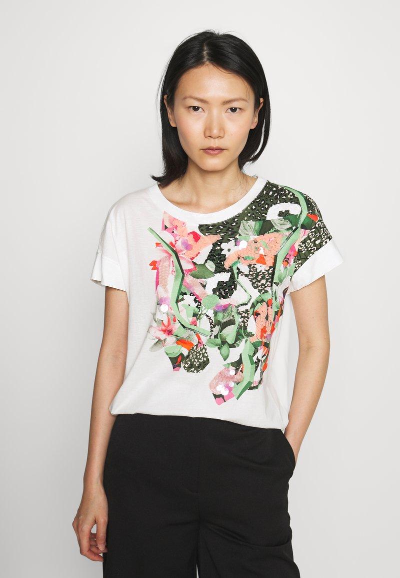 Marc Cain - Print T-shirt - off white