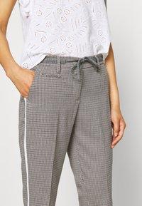 Opus - MORIEL PEPITA - Trousers - iron grey melange - 4