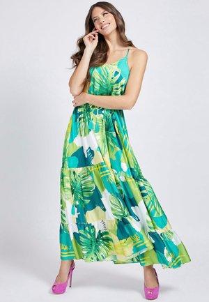 Maxi dress - mehrfarbig, grün
