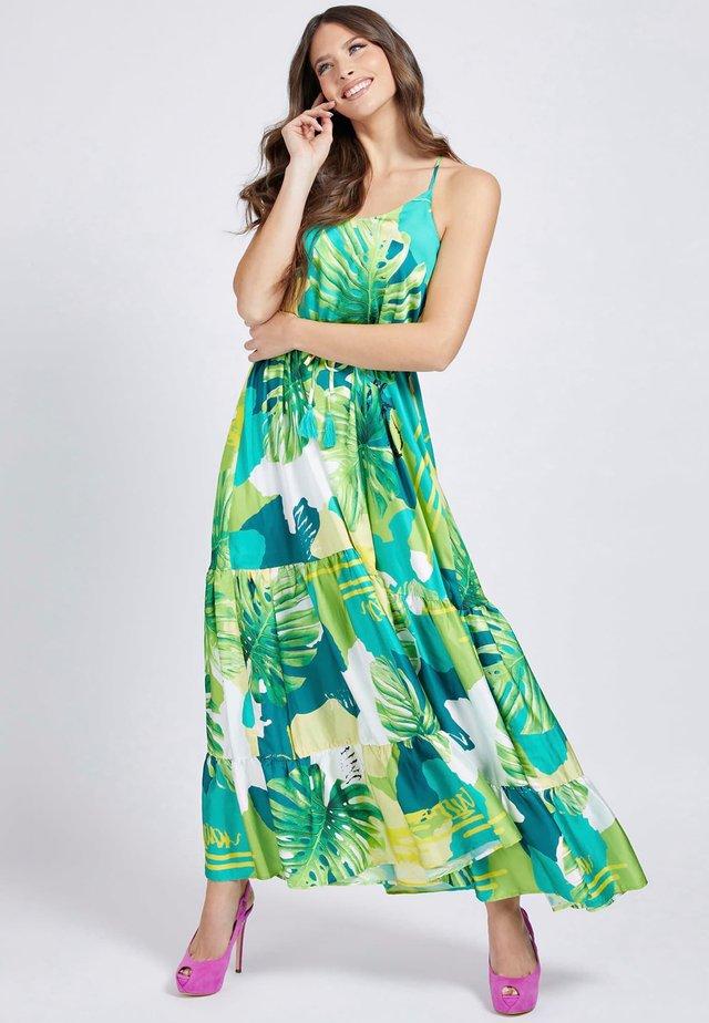 Długa sukienka - mehrfarbig, grün