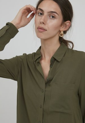 IHMAIN - Button-down blouse - ivy green