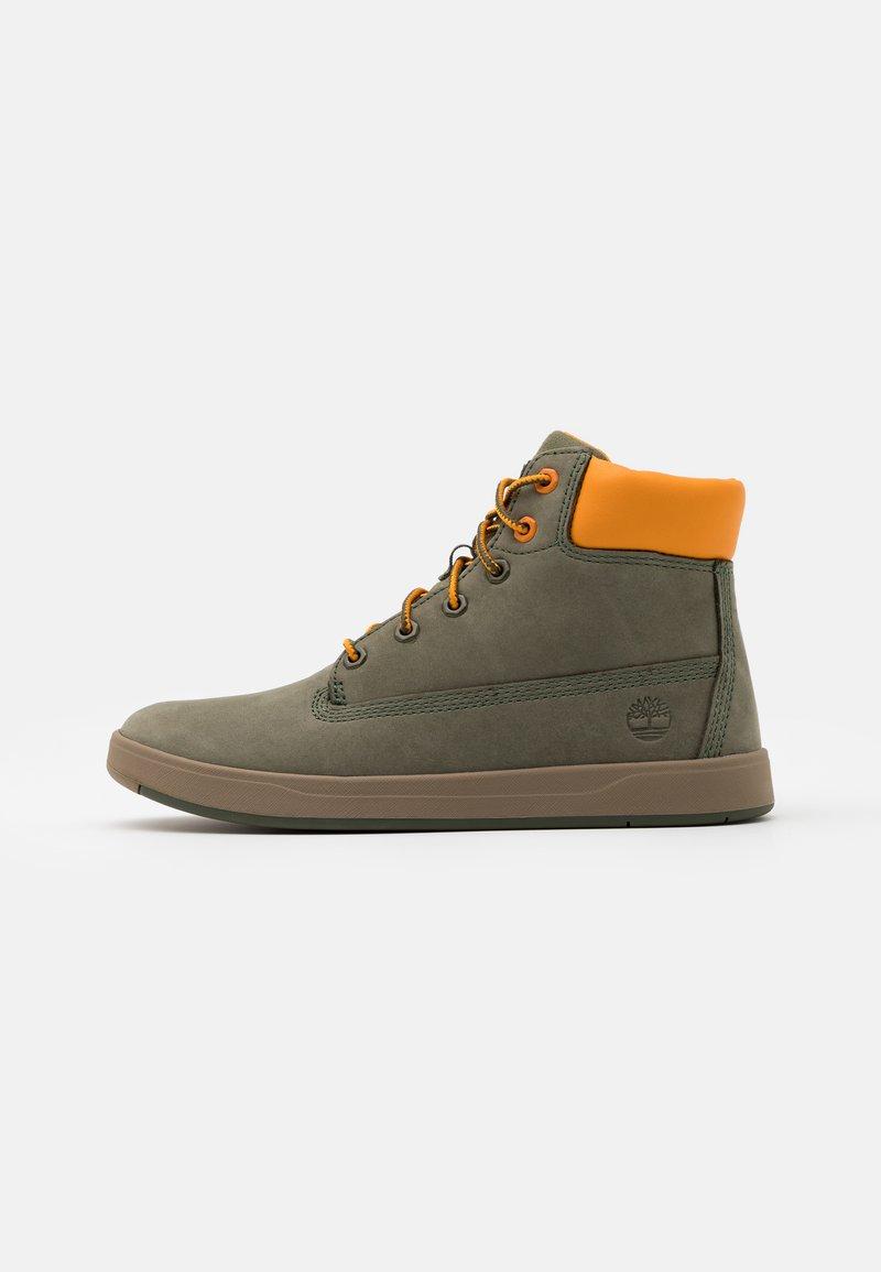 Timberland - DAVIS SQUARE UNISEX - Sneakersy wysokie - dark green