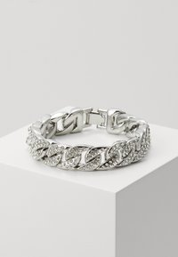 Urban Classics - BIG BRACELET WITH STONES - Bracelet - silver-coloured - 0